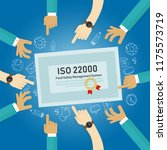 iso 22000   food safety... | Shutterstock .eps vector #1175573719