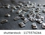 metal letterpress types. a... | Shutterstock . vector #1175576266