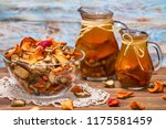 rural still life   compote with ... | Shutterstock . vector #1175581459