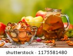 rural still life   compote with ... | Shutterstock . vector #1175581480