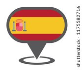 spain location map. vector... | Shutterstock .eps vector #1175582716