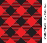 seamless diagonal red and black ... | Shutterstock .eps vector #1175583463