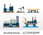 fuel  oil and gas production... | Shutterstock .eps vector #1175593099