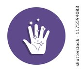 magic hand icon in badge style. ...