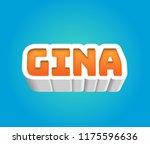 gina. popular nick names ... | Shutterstock . vector #1175596636