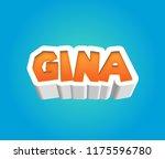 gina. popular nick names ... | Shutterstock . vector #1175596780