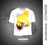 Дизайн вектор на футболки