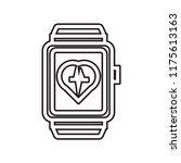 smartwatch icon vector isolated ... | Shutterstock .eps vector #1175613163