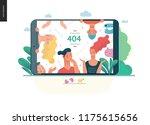 error 404  modern flat vector... | Shutterstock .eps vector #1175615656