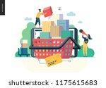 modern flat vector illustration ... | Shutterstock .eps vector #1175615683