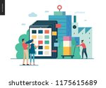 product catalogue   modern flat ... | Shutterstock .eps vector #1175615689