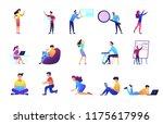 freelancers and businessmen set.... | Shutterstock .eps vector #1175617996