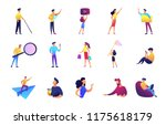 office work and leisure time...   Shutterstock .eps vector #1175618179