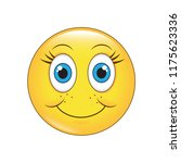 emoji shy face vector isolated...