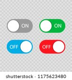 on and off switch toggle... | Shutterstock .eps vector #1175623480