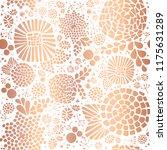 gold foil mosaic flowers... | Shutterstock .eps vector #1175631289