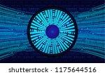 binary circuit board future... | Shutterstock .eps vector #1175644516