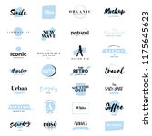 collection of logos and... | Shutterstock .eps vector #1175645623