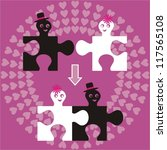 Wedding Invitation With Puzzle...