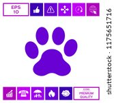 paw icon symbol | Shutterstock .eps vector #1175651716