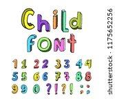 childrens cartoon handmade... | Shutterstock .eps vector #1175652256