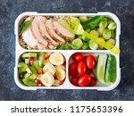 healthy green meal prep... | Shutterstock . vector #1175653396