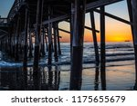 underneath newport beach pier ... | Shutterstock . vector #1175655679