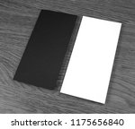 blank flyer over wooden... | Shutterstock . vector #1175656840