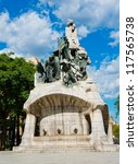 Memorial for Bartomeu Robert, Pla���§a de Tetuan, Barcelona (built between 1904 and 1910) - stock photo