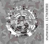 indigenous on grey camo texture | Shutterstock .eps vector #1175658583