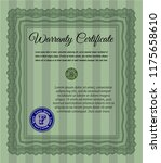 green warranty. excellent... | Shutterstock .eps vector #1175658610