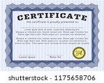 blue classic certificate... | Shutterstock .eps vector #1175658706