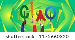 diverse hands holding letters... | Shutterstock .eps vector #1175660320