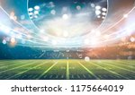 american football stadium 3d... | Shutterstock . vector #1175664019