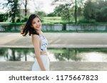 young beautiful girl in a... | Shutterstock . vector #1175667823
