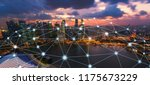 network and connection... | Shutterstock . vector #1175673229
