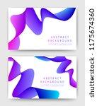 abstract gradient waves 3d.... | Shutterstock .eps vector #1175674360