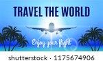 raster version. airplane flight ...   Shutterstock . vector #1175674906