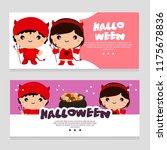 halloween theme banner devil... | Shutterstock .eps vector #1175678836