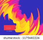 abstract wavy background with... | Shutterstock .eps vector #1175682226