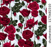 Seamless Pattern Of Red Flower...