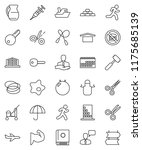 thin line vector icon set  ... | Shutterstock .eps vector #1175685139