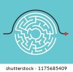 circular maze with entrance and ... | Shutterstock . vector #1175685409