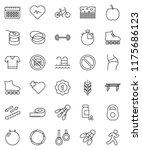 thin line vector icon set  ... | Shutterstock .eps vector #1175686123