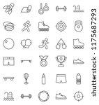 thin line vector icon set  ... | Shutterstock .eps vector #1175687293
