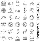 thin line vector icon set  ... | Shutterstock .eps vector #1175687416