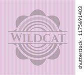 wildcat badge with pink... | Shutterstock .eps vector #1175691403