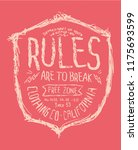 typography print for tee | Shutterstock .eps vector #1175693599