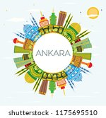 ankara turkey city skyline with ...   Shutterstock .eps vector #1175695510