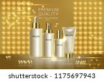 beauty product  gold cosmetic... | Shutterstock .eps vector #1175697943